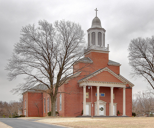 A church in Tweedy's home town of Belleville, Illinois.