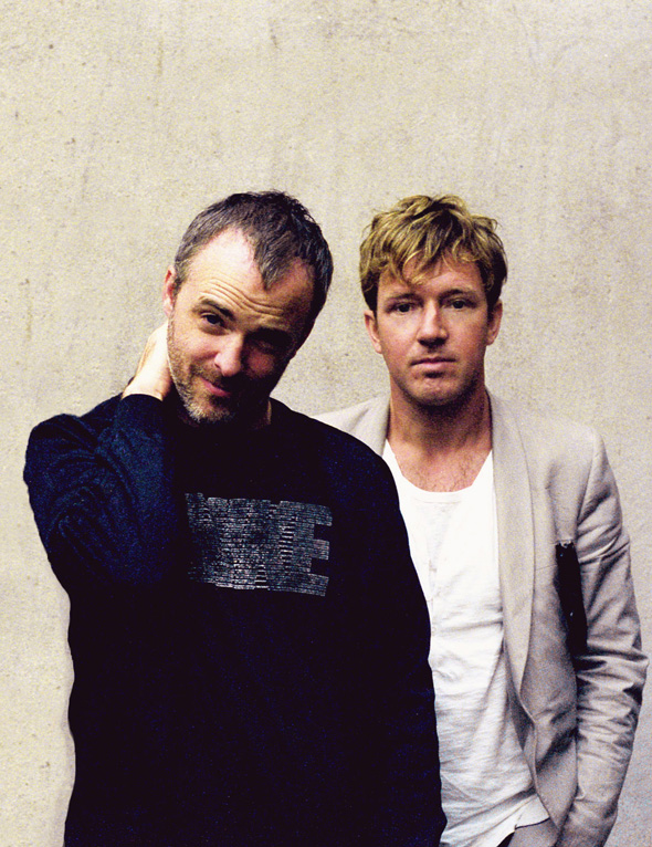Fran Healy and Andy Dunlop of Travis