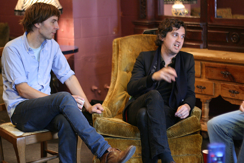 Thomas Mars (L) and Chris Mazzalai (R)