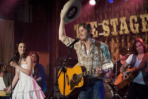 Garrett Hedlund set foot on the Opry's famous circle– the six-foot piece of