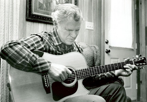 Doc Watson at his home,  Photo Credit: David Holt