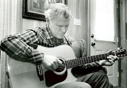 Doc Watson at his home, Photo Credit: David Holt