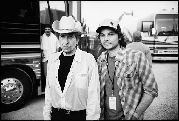 Bob Dylan with Wilco's Jeff Tweedy at Bonnaroo.