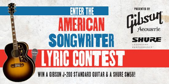 2013 Lyric Contest banner