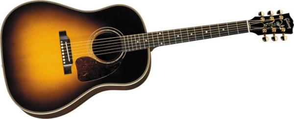 review gibson j 45 custom acoustic electric american songwriter. Black Bedroom Furniture Sets. Home Design Ideas