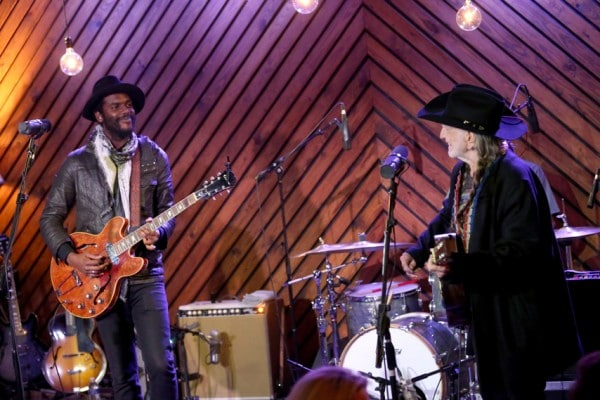 Gary Clark Jr. and Willie Nelson [Photo by Gary Miller]