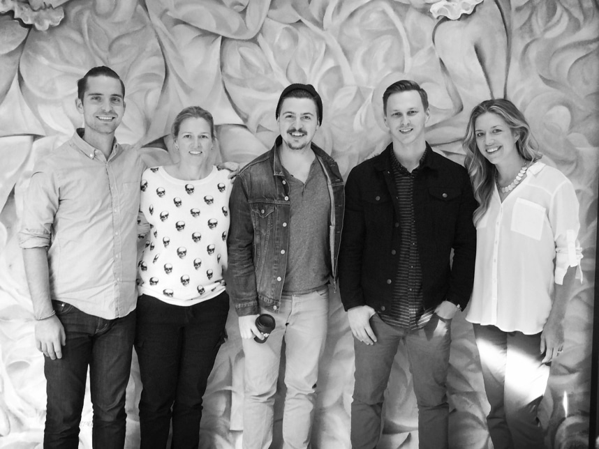 (pictured left to right) Jesse Feister, Songspace; Leslie Roberts, BMI; Kenneth Tyler, Chris Jackson, A Lion Named Roar; Penny Gattis, BMI.